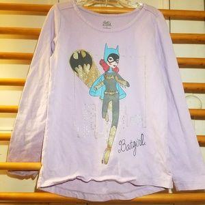 Gymboree Girls Batgirl Shirt 8 LS Top Lavender DC